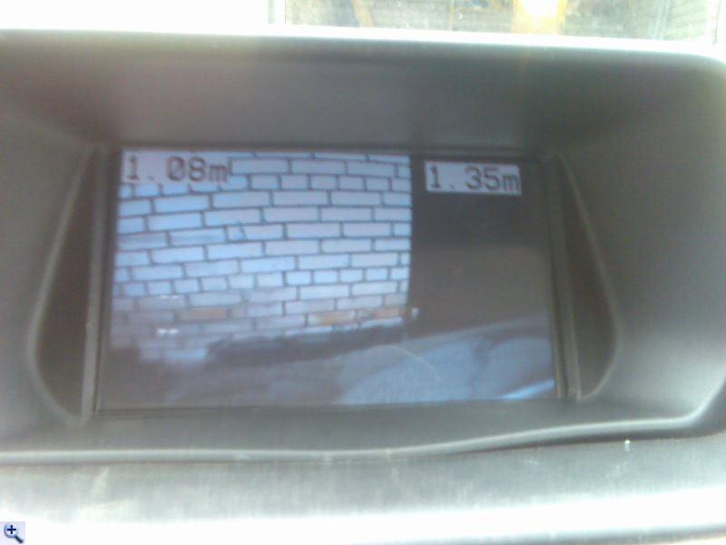 Теперь на мониторе - и расстояние до препятствий